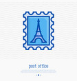 postage stamp thin line icon vector image