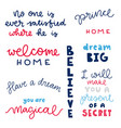 poster with fairytale phrases vector image