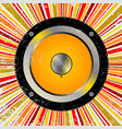 retro speaker background vector image vector image
