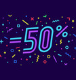 sale -50 percent banner for discount sale vector image