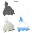 San Juan blank outline map set vector image vector image