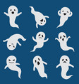 scary ghosts cute halloween ghost white vector image