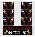 Scoreboard Football Tournament vector image vector image