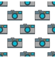 Seamless pattern of photo cameras flat objects on vector image vector image