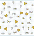 seamless pattern with for happy valentines day vector image vector image