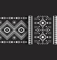 set ethnic aztec prints tribal geometric vector image vector image