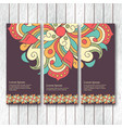 set of vertical banners flyers with mandala vector image vector image