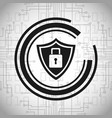shield protection security system padlock vector image
