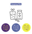 sleeping pills line icon vector image