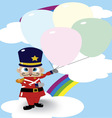 Soldier Doll And Balloon vector image