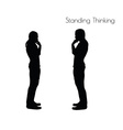 Standing Thinking pose on white background vector image vector image