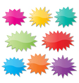 starburst speech bubbles vector image vector image