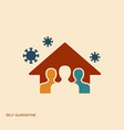 stay at home save lives social distancing vector image