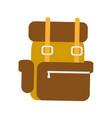 travel backpack background vector image