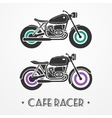 Two retro motorcycles vector image vector image