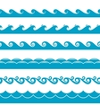 Water waves symbols set vector image