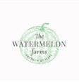 watermelon farms abstract sign symbol or vector image vector image