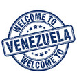 welcome to venezuela blue round vintage stamp vector image vector image