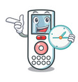 with clock remote control character cartoon vector image vector image