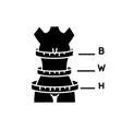 woman body proportions black glyph icon female