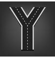 Y letter Road font vector image vector image