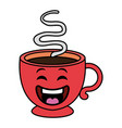 coffee cup hot kawaii character vector image