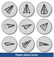 light paper plane icons vector image
