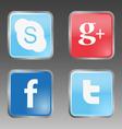 Social internet buttons vector image