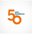 50 year anniversary excellence template design vector image vector image