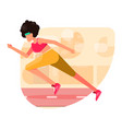 a beautiful girl jogging in park vector image vector image