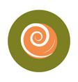 Abstract swirl orange color flat and block icon