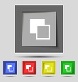 Active color toolbar icon sign on the original vector image vector image
