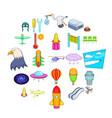 air navigation icons set cartoon style vector image vector image