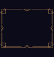Art deco frame vintage linear border design a