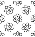 atom line seamless pattern on white background vector image vector image