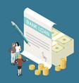 bank loan isometric composition