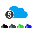 banking cloud flat icon vector image vector image