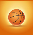 basketball ball isolated orange icon background vector image