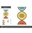Biology line icon vector image vector image