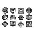 black and white made in usa badges banners and vector image