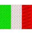 brick wall italy vector image vector image