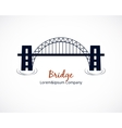 Bridge Logo Graphic Design on White Background vector image vector image