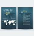 business corporate brochure template design vector image