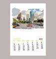 calendar sheet layout september month 2021 year vector image vector image