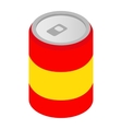 Can of soda isometric 3d icon vector image vector image
