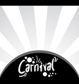 carnival cover vector image vector image