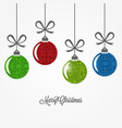 christmas vintage card with balls design vector image vector image