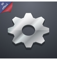 Cog settings icon symbol 3D style Trendy modern vector image