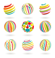 Color planet icons vector image