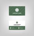 dark green business card design template vector image vector image
